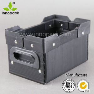 Black Plastic Foldable Stackabel New PP Turnover Box pictures & photos