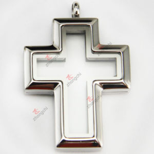 Stainless Steel Plain Cross Locket Pendant Jewellery (FL)