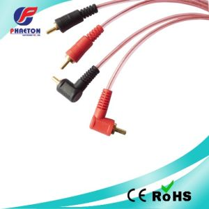 Transparent 2RCA to 2RCA 90 Degree Angle Audio Video Cable pictures & photos