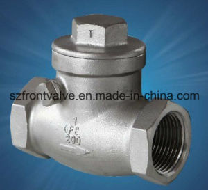 Precision Casting Stainless Steel Threaded Swing Check Valve pictures & photos