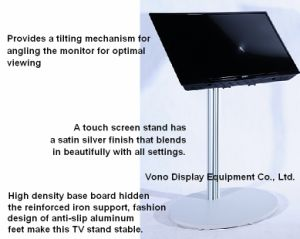 Exhibition Display Single Column Touch Screen Stand pictures & photos