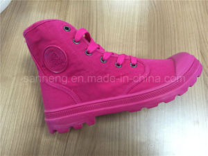 Women Shoes Pink Canvas High-Top Casual Shoes pictures & photos