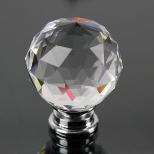 Fashion 40mm Crystal Glass Cabinet Hardware Knob and Handle for Furniture pictures & photos