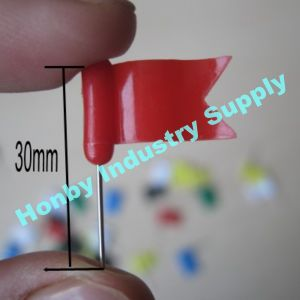 30mm Assorted Colors Plastic Head Office Supplies Waving Flag Map Push Pins pictures & photos