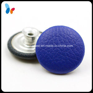 Metal Tack Button Leather Covered Jeans Button for Denim pictures & photos
