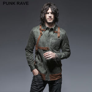 Y-653 Punk Washing Uniform Long Sleeve Man Shirt pictures & photos
