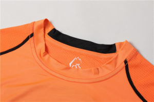 Sports Athletic Tops Compression Shirt Men Short Sleeve T-Shirt (AKJSY-2015033) pictures & photos