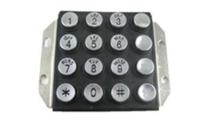 16 Keys Rugged Metal Keypad Public Phone Keypad Waterproof Keypad pictures & photos