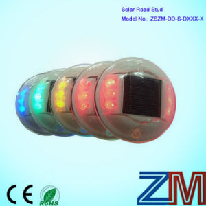IP67 Round Shape Solar-Powered Road Stud / Reflective LED Flashing Road Marker pictures & photos
