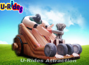 AXE Man Inflatable slide with all digital printing pictures & photos
