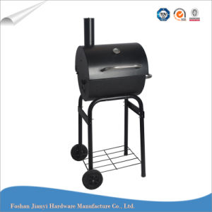 Outdoor Troelly BBQ Grill Barrel Charcoal Grill