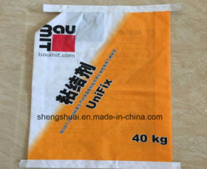 40kg PP Woven Valve Bag for Binder with Top and Bottom Tape Sealed