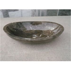 Dark Emperador Marble Sink for Bathroom pictures & photos