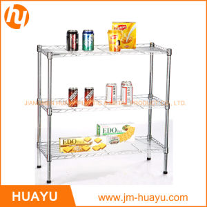 Heavy Duty Homeware 60L X 45W X 70h 3-Tier Wire Steel Shelving Adjustable Rack Storage Shelf pictures & photos