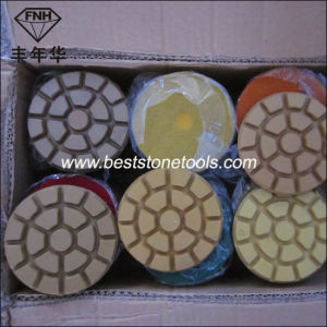 Cr-11 Diamond Marble Floor Polishing Pad for Renovation (80/100X10mm) pictures & photos