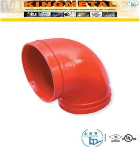 "300 Psi 4"" Ductile Iron 90 Degree Grooved Elbow Fittings pictures & photos"