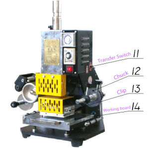 Tam-90 Hot Stamping Machine for Leather Printing pictures & photos