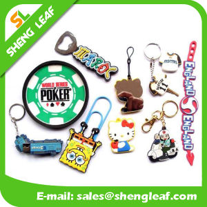 Eco-Friendly Rubber Keychain for Decoration (SLF-KC100) pictures & photos