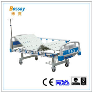 Adjustable 2 Cranks Used Hospital Bed Medical Manual Bed pictures & photos
