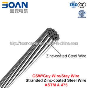 Gsw, Guy Wire, Stay Wire, Steel Wire, Zinc-Coated Steel Wire, Stranded Galvanized Steel Wire (ASTM A 475) pictures & photos