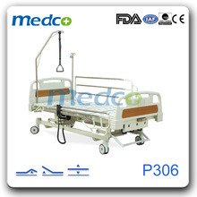 3-Function Electric and Manual Hospital Nursing Bed pictures & photos