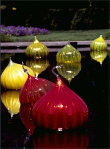 Mouth Blown Glass Ball on The Water Decoration