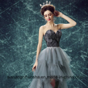 Black Feather Evening Dress Wedding Dresses Bridal Gowns pictures & photos
