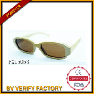 Fashion Ellipse Wooden Fudan Glasses (FX15053) pictures & photos