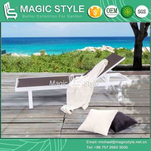 Winter Sling Lounge Textile Lounge Pool Daybed Stackable Lounge Beach Lounge (Magic Style) pictures & photos