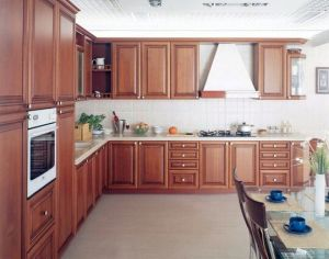 American Style Solid Wood Kitchen Cabinet (cherry 9) pictures & photos