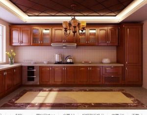 American Style Solid Wood Kitchen Cabinet (cherry 7) pictures & photos