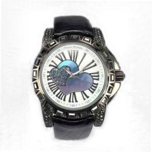 Custom Luxury Genuine Leather Waterproof Wrist Watch Lw-10