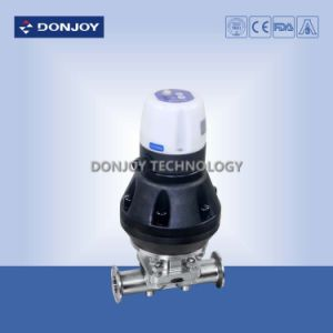 Ss316L Pneumatic Diaphragm Valve with Positioner (Clamp Ends) pictures & photos