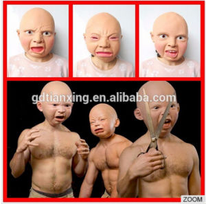 Realistic Full Head Natural Latex Mask for Fancy Cross Dress Disguise (Halloween Party Prank Costume Female. pictures & photos