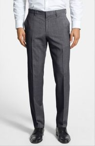 OEM Bulk Men′s Wrinkle-Free Flat-Front Formal Dress Pants Trousers pictures & photos