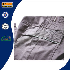 Cordura Poly Cotton Durable Work Trousers Grey Construction Work Pants pictures & photos