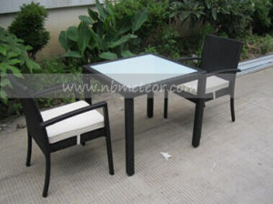 Mtc-143 Outdoor Rattan Dining Set for 2 People pictures & photos