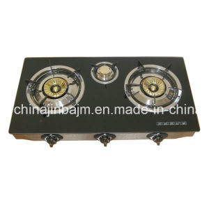 3 Burners Tempered Glass Top 90# Brass Burner (G3-710BA90) Cook Top/Gas Cooker/Gas Stove pictures & photos