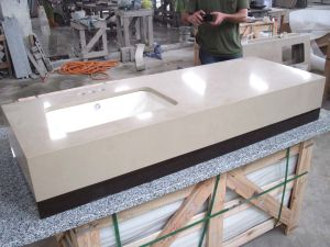 Kitchen/Bathroom Beige Granite/Marble/Artificial/Quartz/Stone Formica/Soapstone Solid Surface Wholesale Prefab Quartz Countertops
