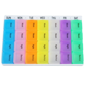 Rainbow 7 Days Pill Storage Case Box Container pictures & photos