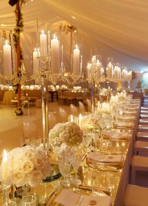 The Beautiful Crystal Candle Holder Centerpieces