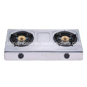2 Burners Stainless Steel 710mm Length 80-80 Iron Burner Cap Gas Cooker/Gas Stove pictures & photos