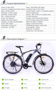"27.5"" Aluminium Alloy Frame Electric Bicycle pictures & photos"