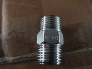 Stainless Steel Hex. Male Threaded Nipple pictures & photos