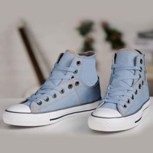 Outdoor Sport Wholesale High Ankle Navy Casual Walking Plimsolls Shoes pictures & photos