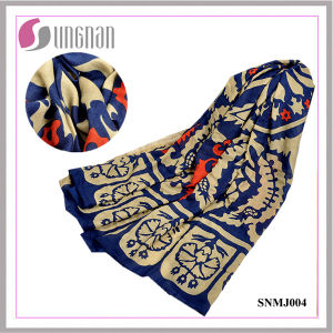 Elegant Totem Art Pattern Shawl Scarf Turkey Cotton Scarf (SNMJ004) pictures & photos