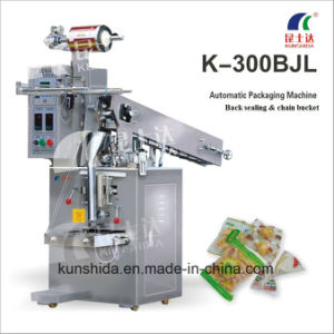 Pillow Sealing Semi-Auto Packing Machine with Chain Bucket pictures & photos