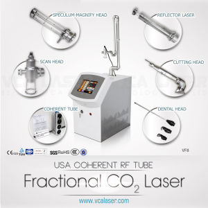 Fractional CO2 Laser for Acne Scar Wrinkle Removal Vascular Lesion (RF tube made in USA) pictures & photos