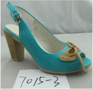 Comfortable Fashion Hollow out Peep-Toe Ladies Sandal pictures & photos