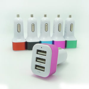 New Highspeed 3 Port Universal Mobile Phone Charger USB Car Charger pictures & photos